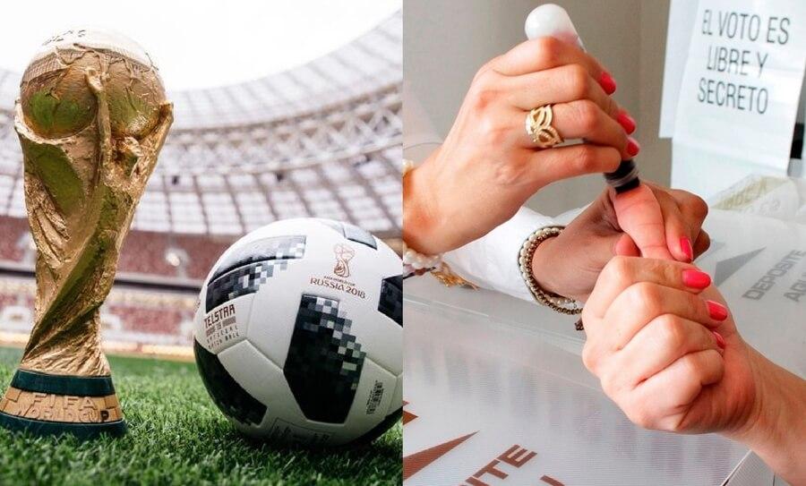 partidos del Mundial se jugarán el día de las elecciones