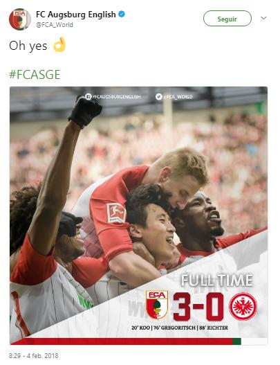 Marco Fabián regresa con derrota, tras goleada a Frankfurt Augsburg