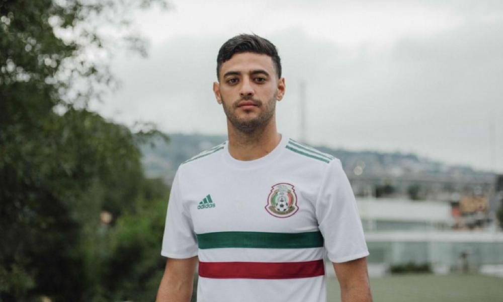 México presentó su nueva playera de visitante para el Mundial de ... b012183ae2c16
