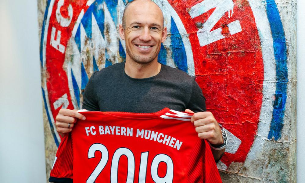 Robben renovó hasta 2019 con el Bayern