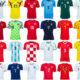 Camisetas locales del Mundial Rusia 2018.