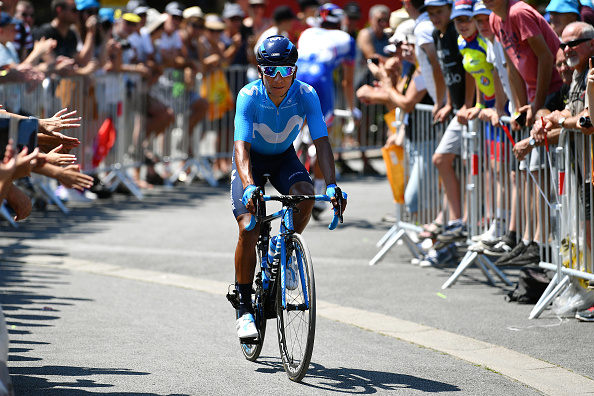 Quintana es ciclista del equipo Movistar