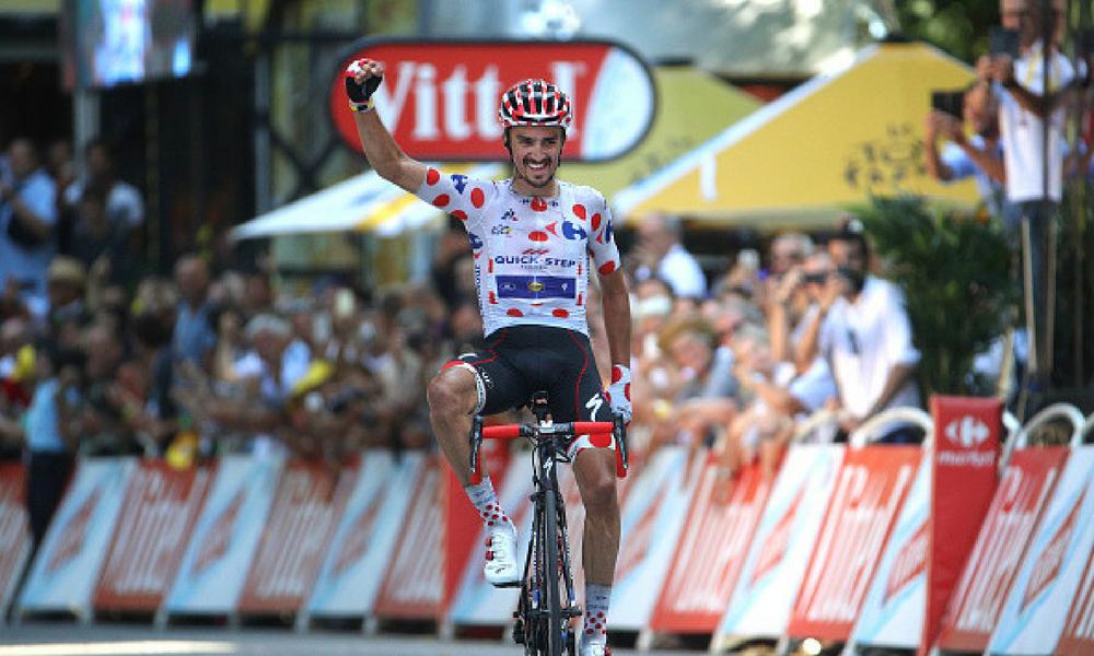 Julian Alaphilippe ganó la etapa 16
