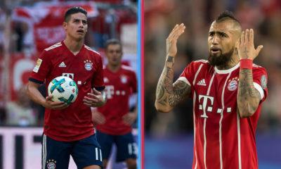 James y Vidal podrían quedar fuera del Bayern