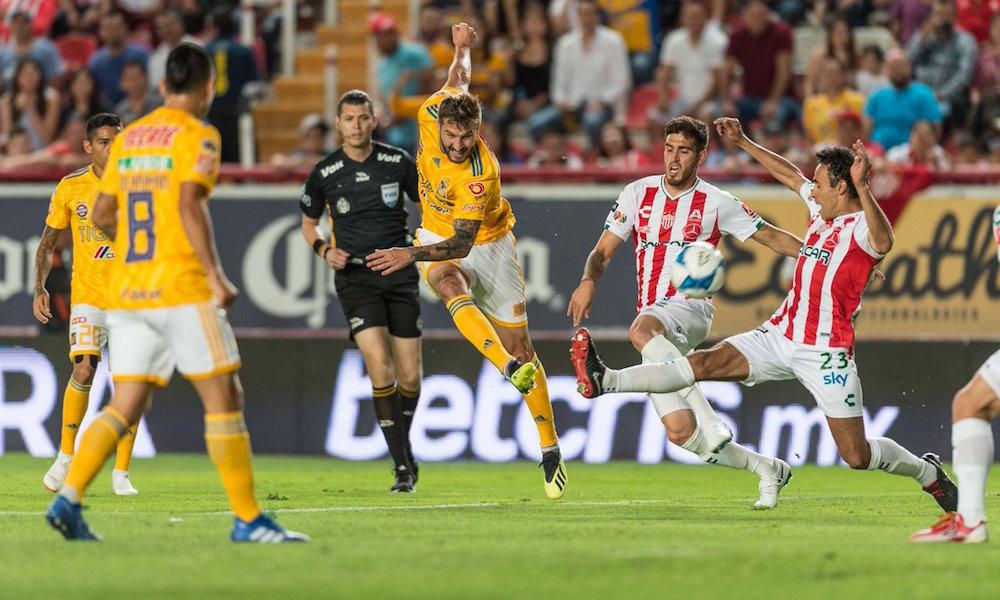 Tigres y Necaxa empataron a un gol