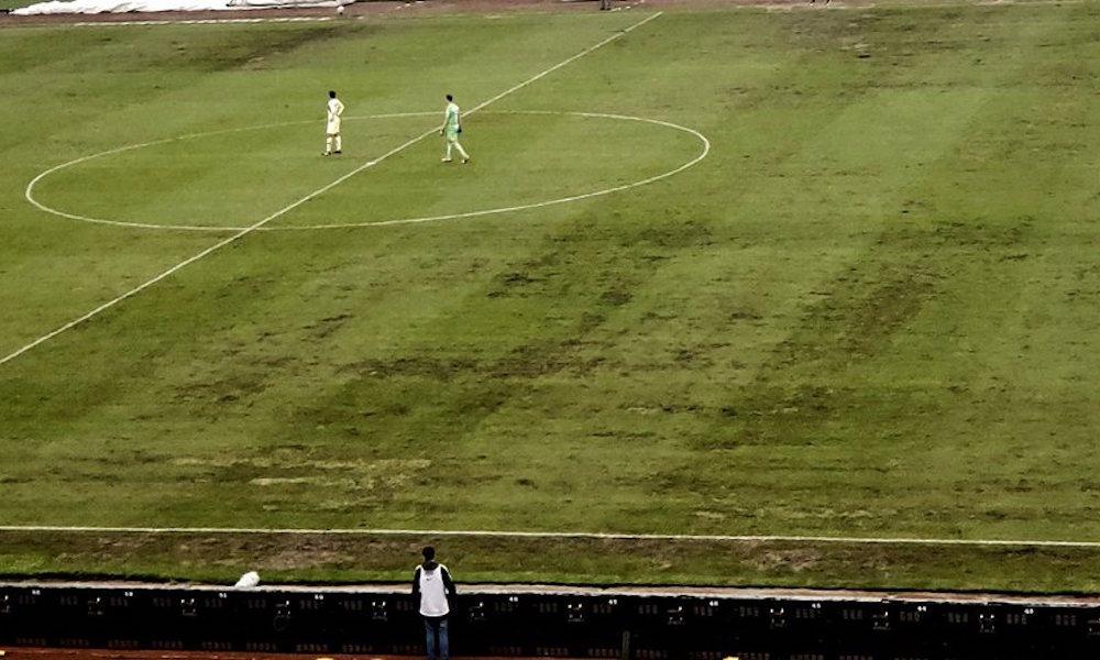 el estado del campo del Estadio Azteca