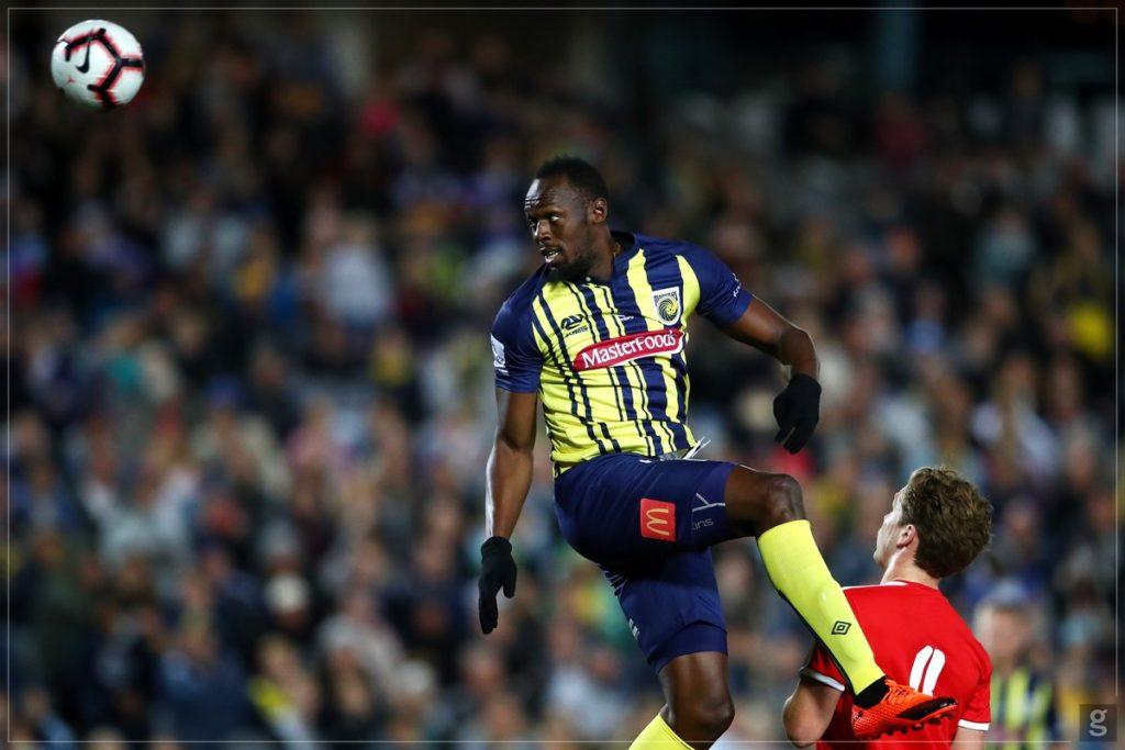 debut de Usain Bolt como futbolista