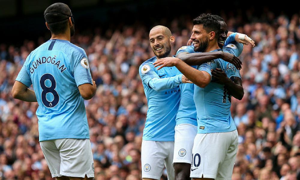 El Manchester City goleó al Huddersfield
