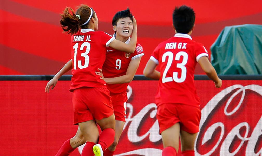 Futbolista china anotó nueve goles a Tayikistán