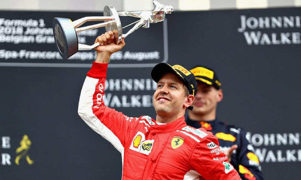 Vettel ganó en Bélgica