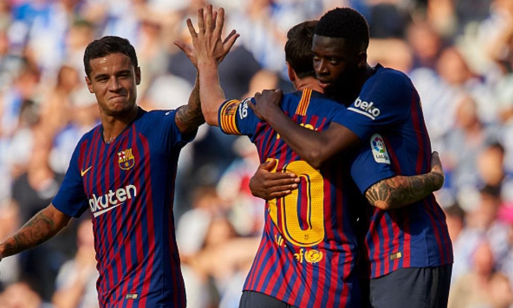Barcelona remontó para ganarle a la Real Sociedad