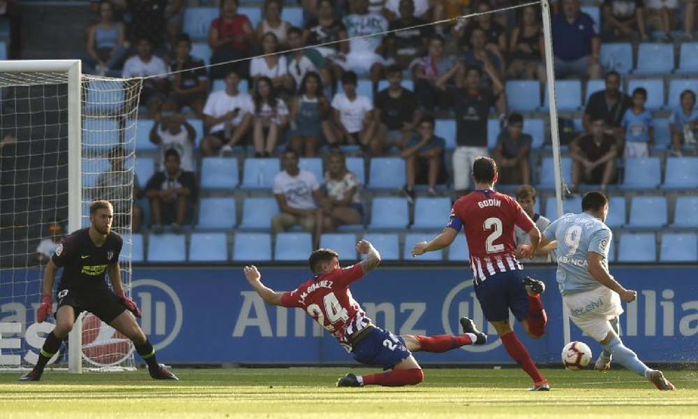 Celta de Vigo venció al Atlético de Madrid