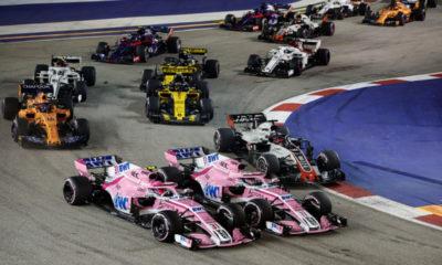 'Checo' Pérez tuvo un accidentado Gran Premio de Singapur