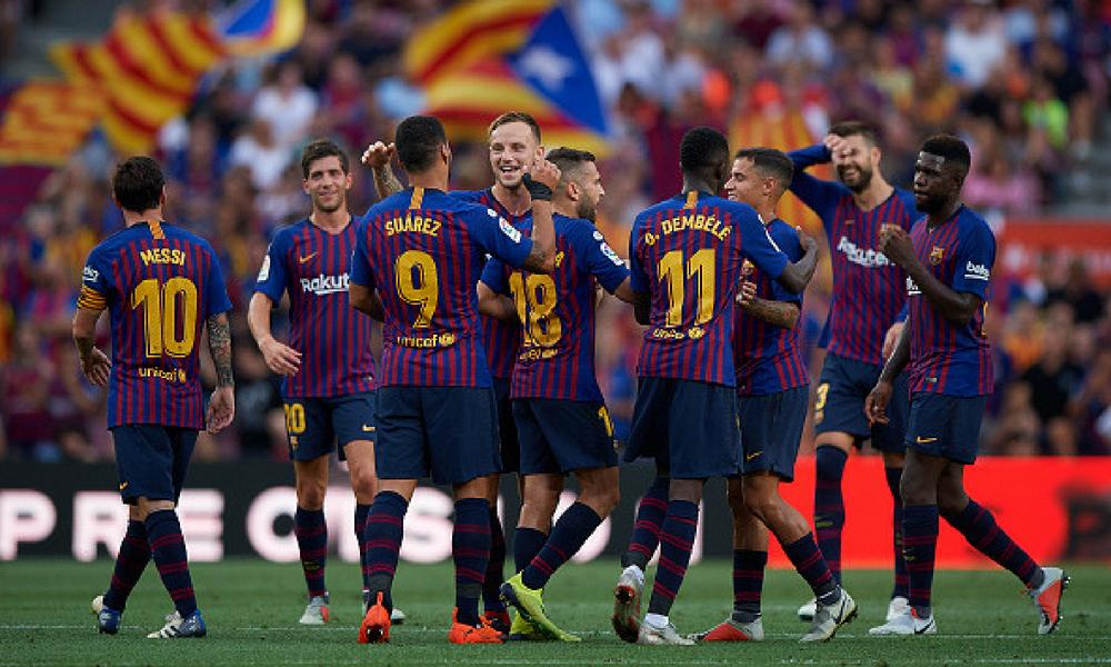 El Barcelona goleó al Huesca