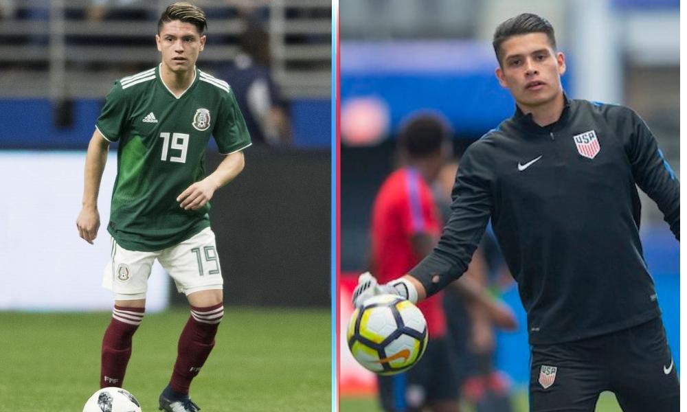 Futbolistas que decidieron entre México y E.U.A.
