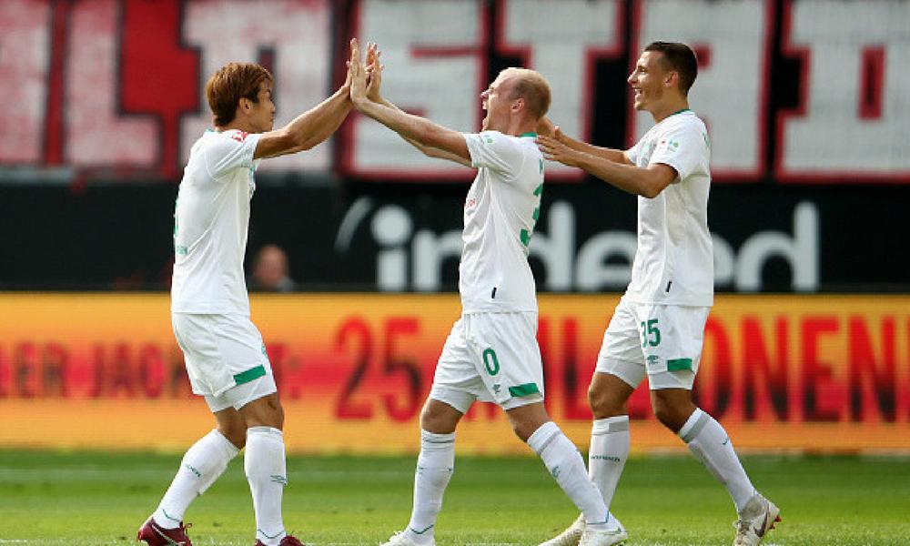Werder Bremen venció al Eintracht Frankfurt