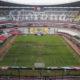 el césped del estadio Aztecael césped del estadio Azteca