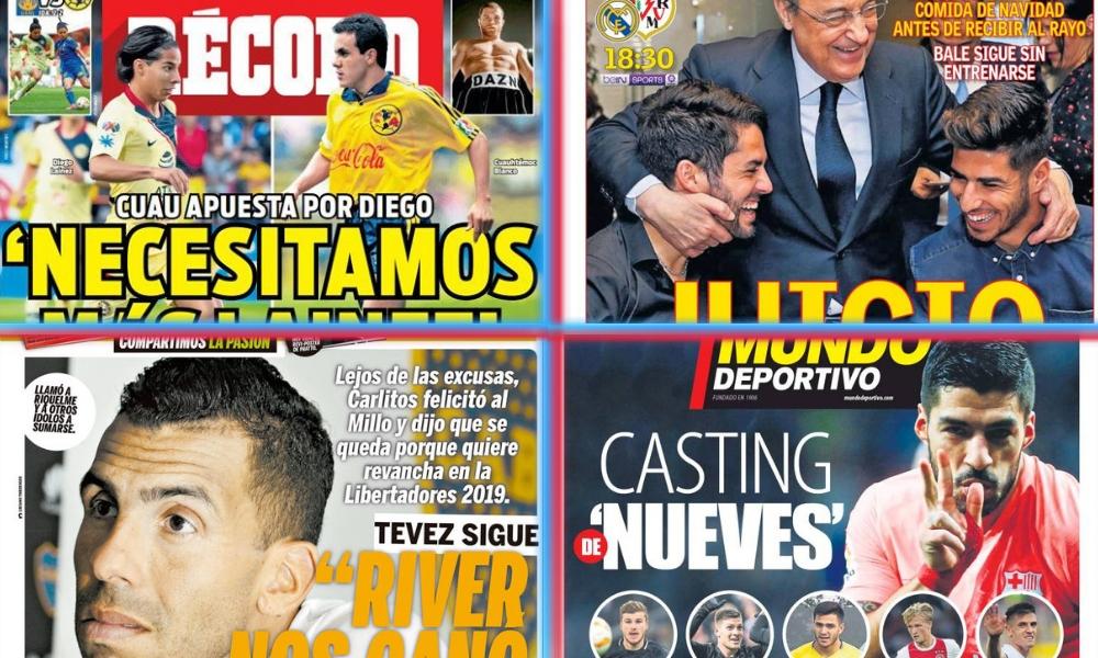 diarios deportivos del 15 de diciembre de 2018