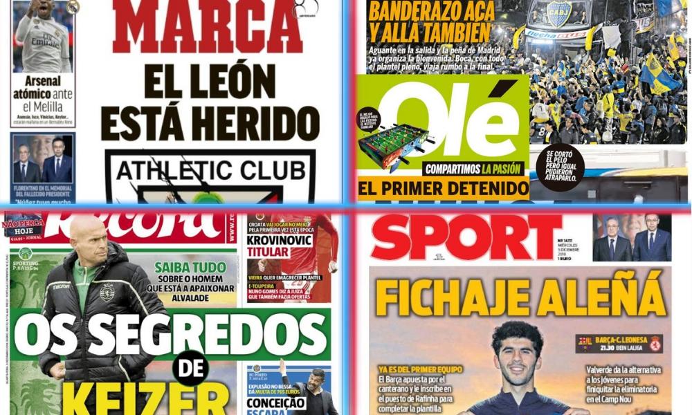 diarios deportivos del 5 de diciembre de 2018