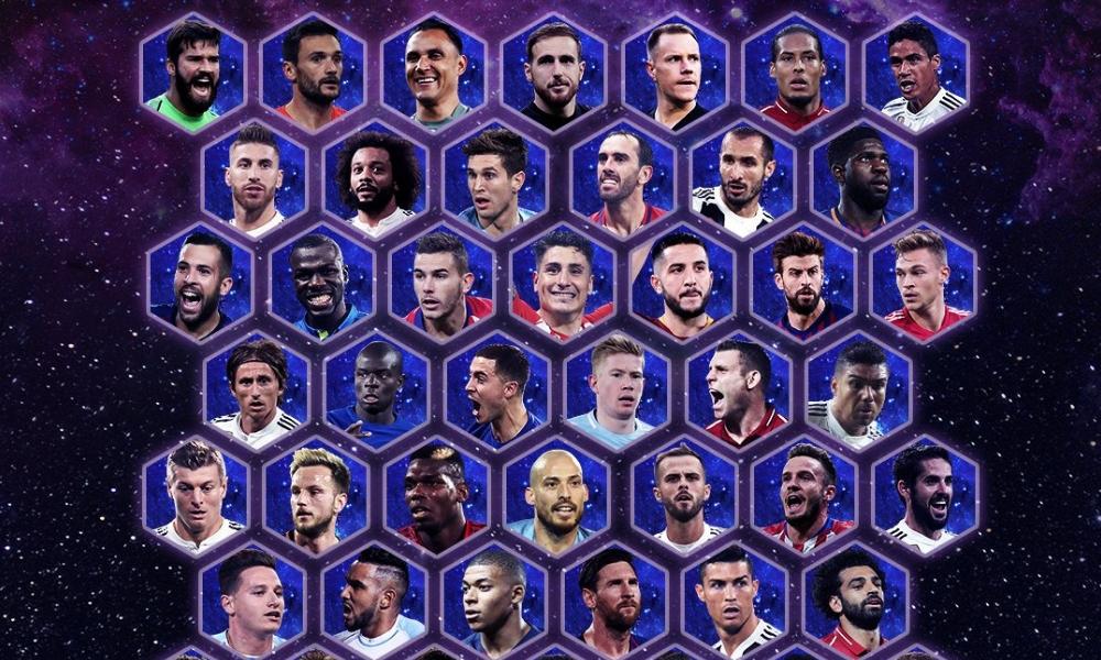 nominados al equipo del año de la UEFA