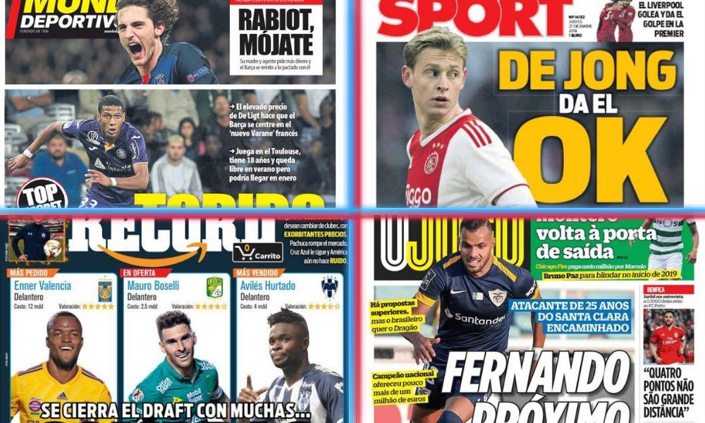 diarios deportivos del 27 de diciembre de 2018