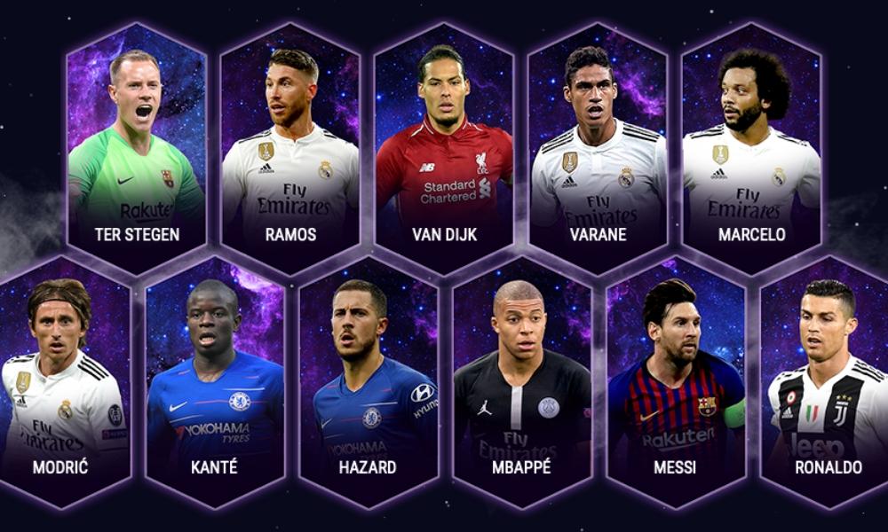 once ideal de la UEFA 2018