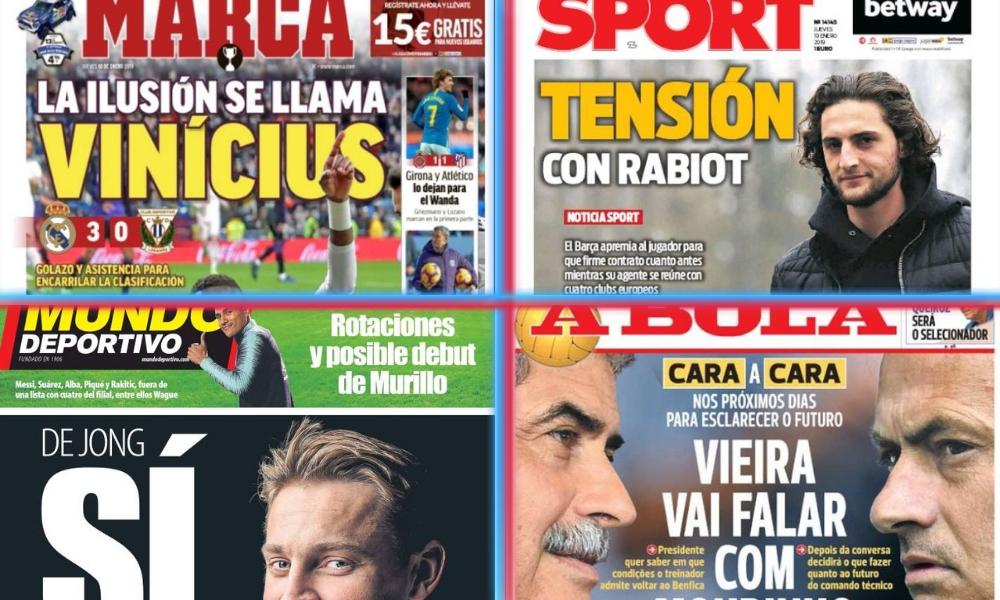 diarios deportivos del 10 de enero de 2019