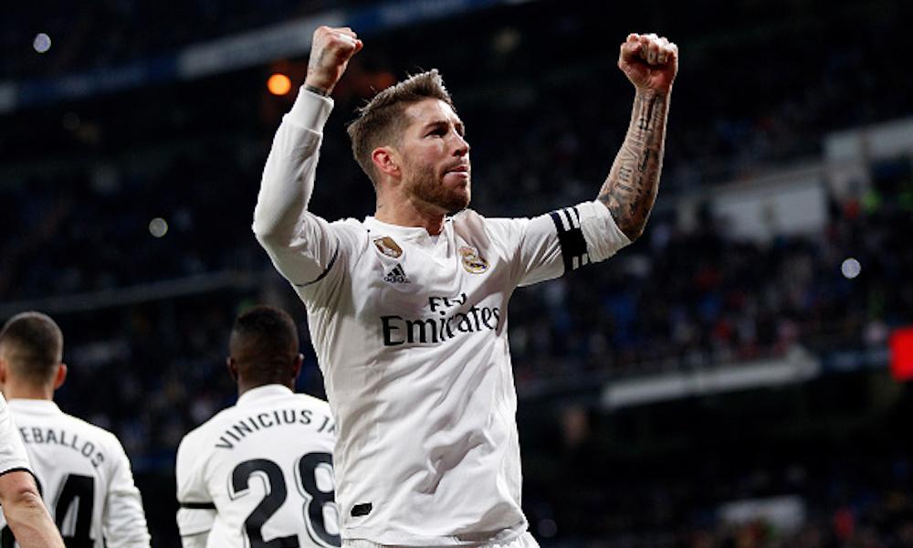Sergio Ramos anotó su gol 100