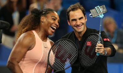 Roger Federer derrotó a Serena Williams