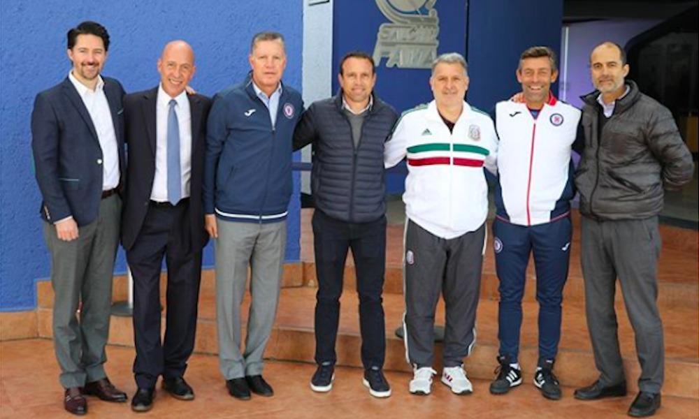 'Tata' Martino asistió al entrenamiento de Cruz Azul