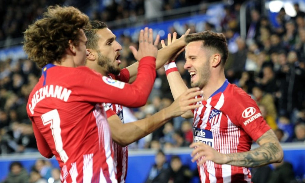 Atlético de Madrid goleó al Alavés