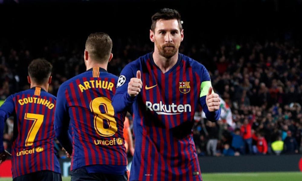 Messi lideró la clasificación del Barcelona