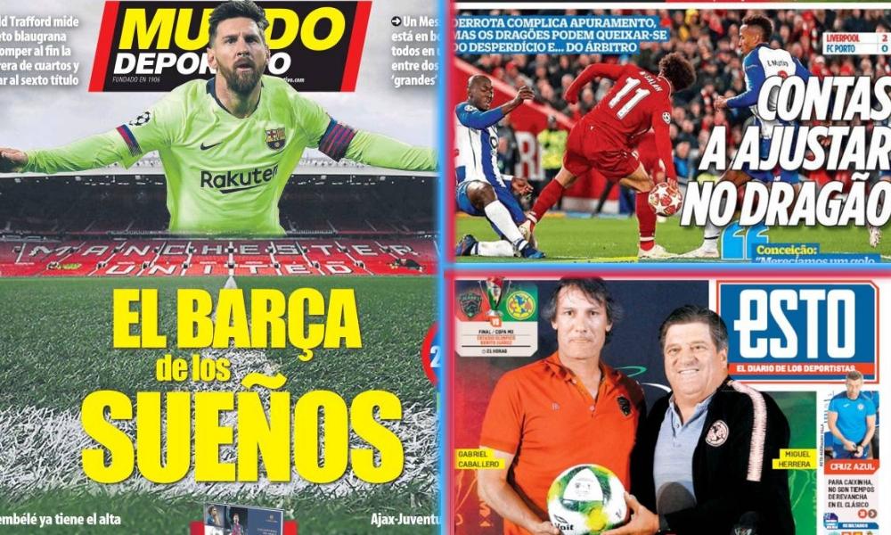 diarios deportivos del 10 de abril de 2019