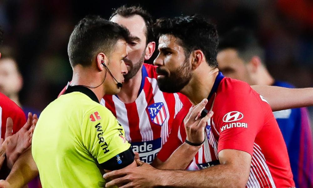LaLiga suspendió ocho partidos a Diego Costa, Comité de Competición de LaLiga, árbitro Gil Manzano