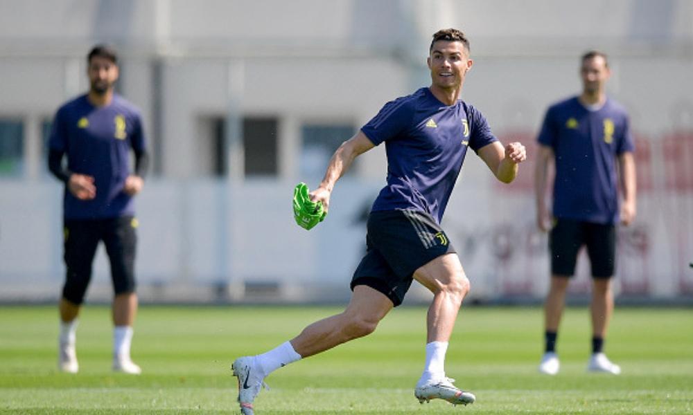 Cristiano Ronaldo volvió a entrenar