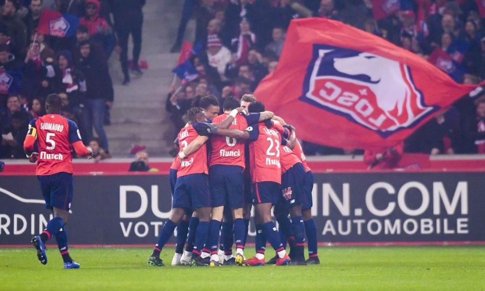 el Lille goleó al PSG