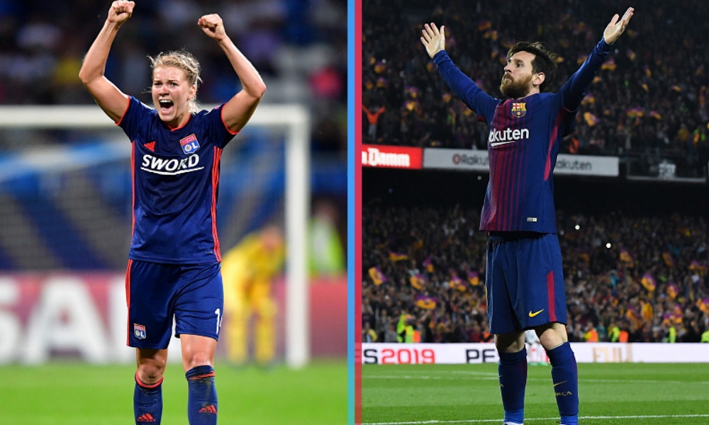 la futbolista y el jugador mejor pagados, Messi es el jugador mejor pagado, Ada Hegerberg