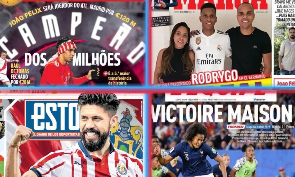 diarios deportivos del 18 de junio de 2019