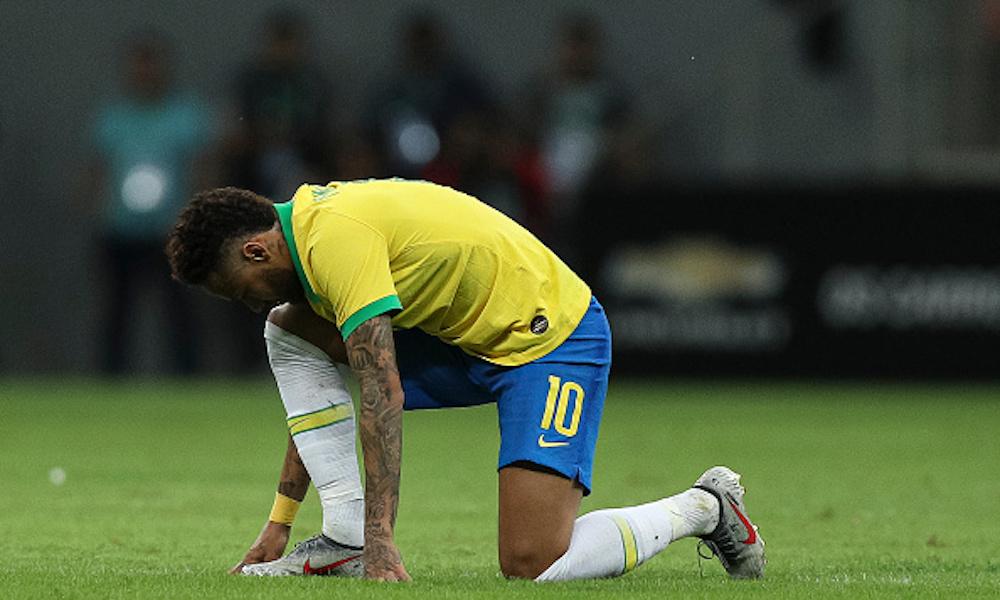 Neymar mostró la gravedad de su lesión