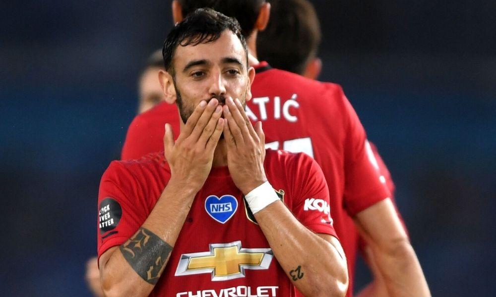 El Manchester United goleó y Bruno Fernandes se lució con doblete