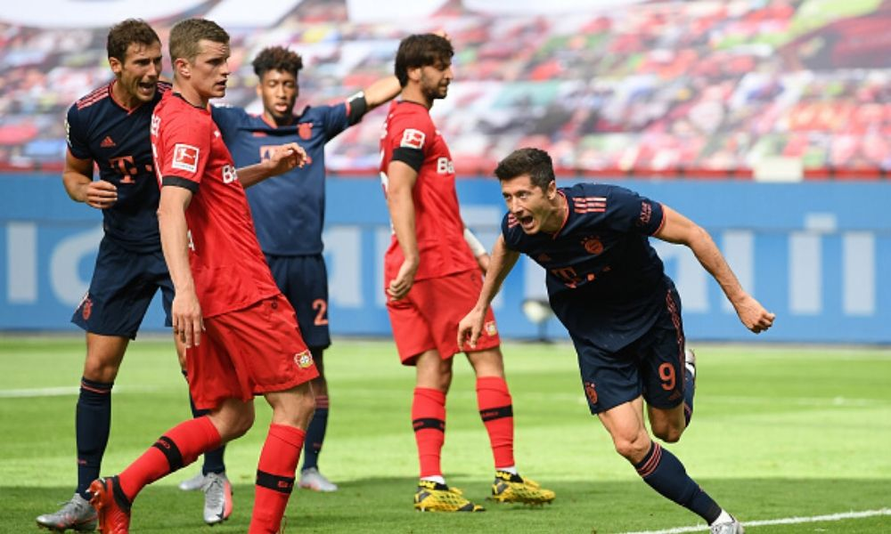 Robert Lewandowski logró su mejor marca con el Bayern Múnich