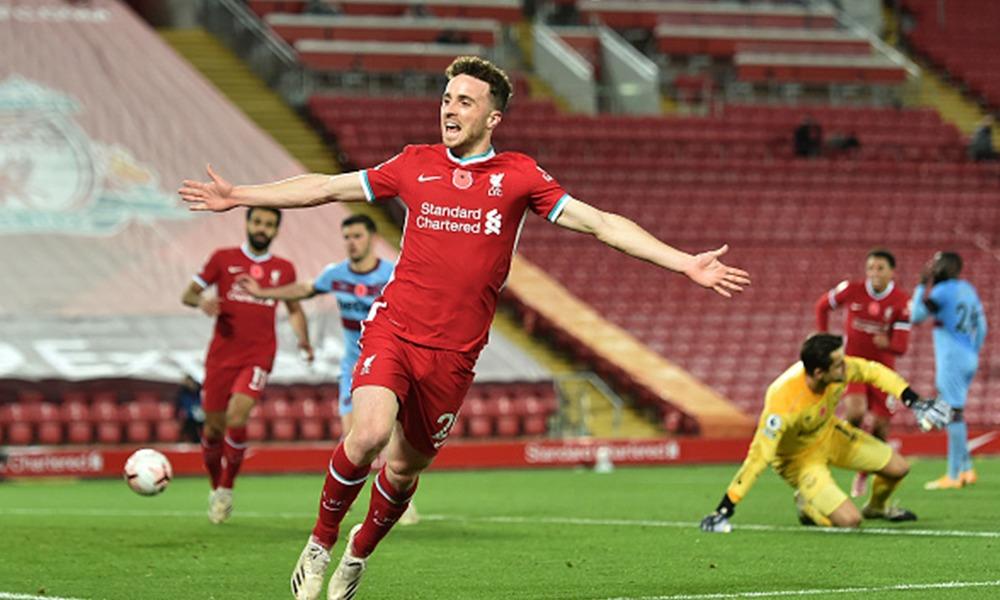 Increíble remontada, Diogo Jota le dio el triunfo a Liverpool