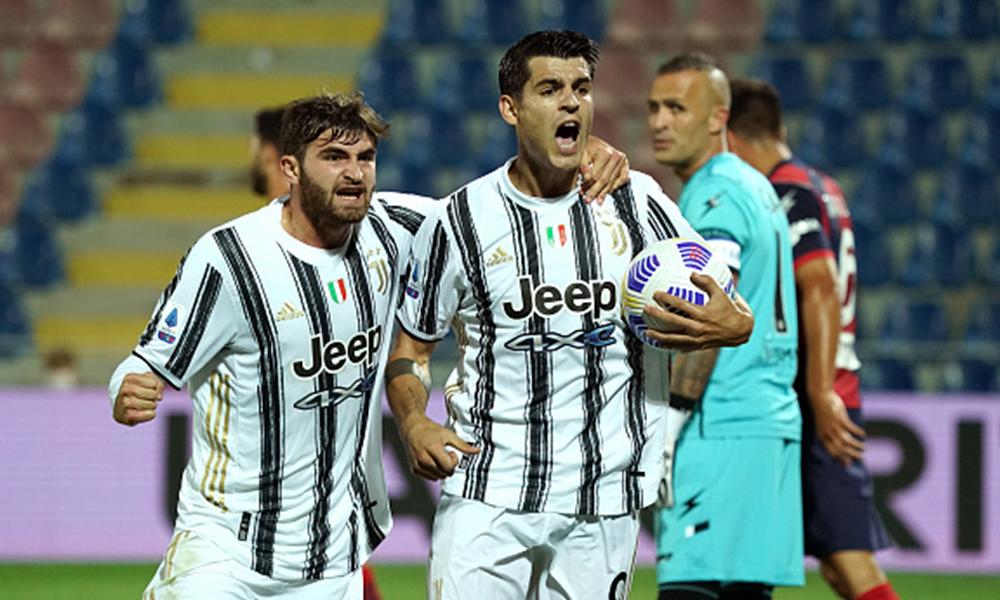 Con 10 hombres en la cancha, la Juventus empató ante el Crotone