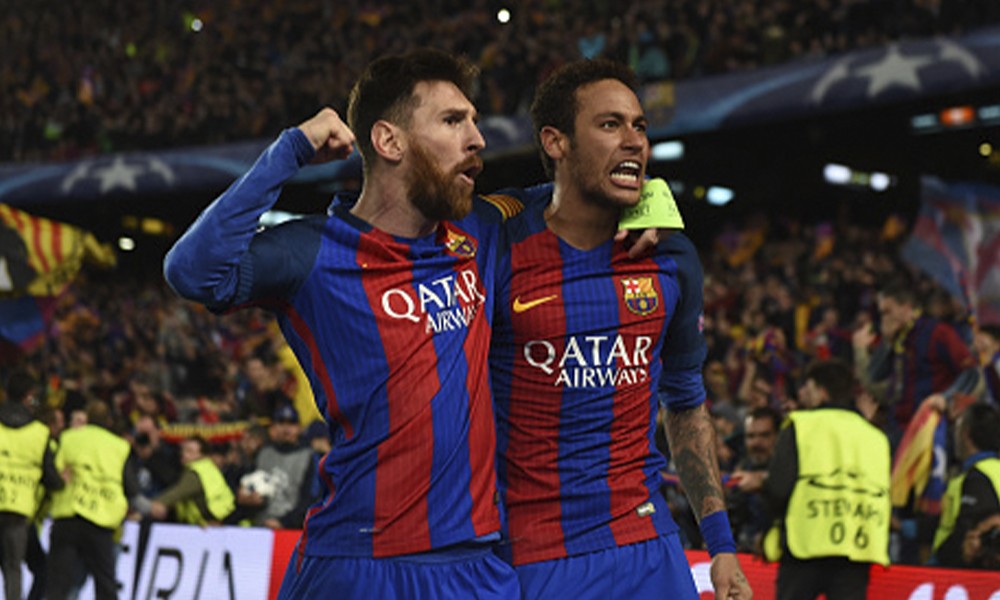 Neymar Barcelona Messi Koeman